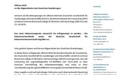 offener Brief an die Bundestagsabgeordneten als Antwort auf den offenen Brief der DGGG und des BVF