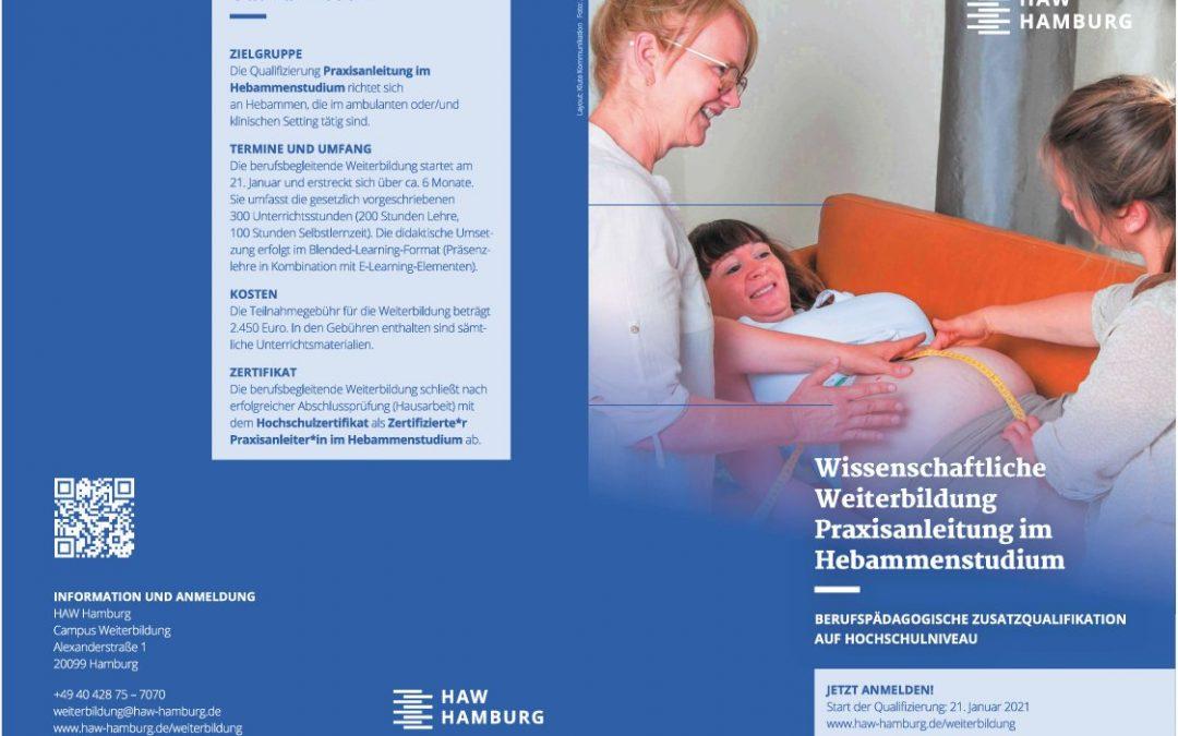 Weiterbildung Praxisanleitung im Hebammenstudium